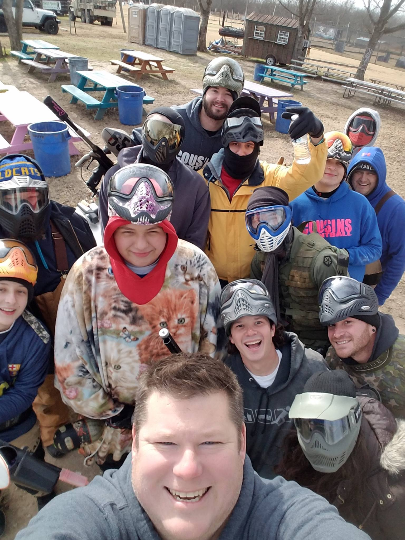 Cousins Paintball Dallas Party