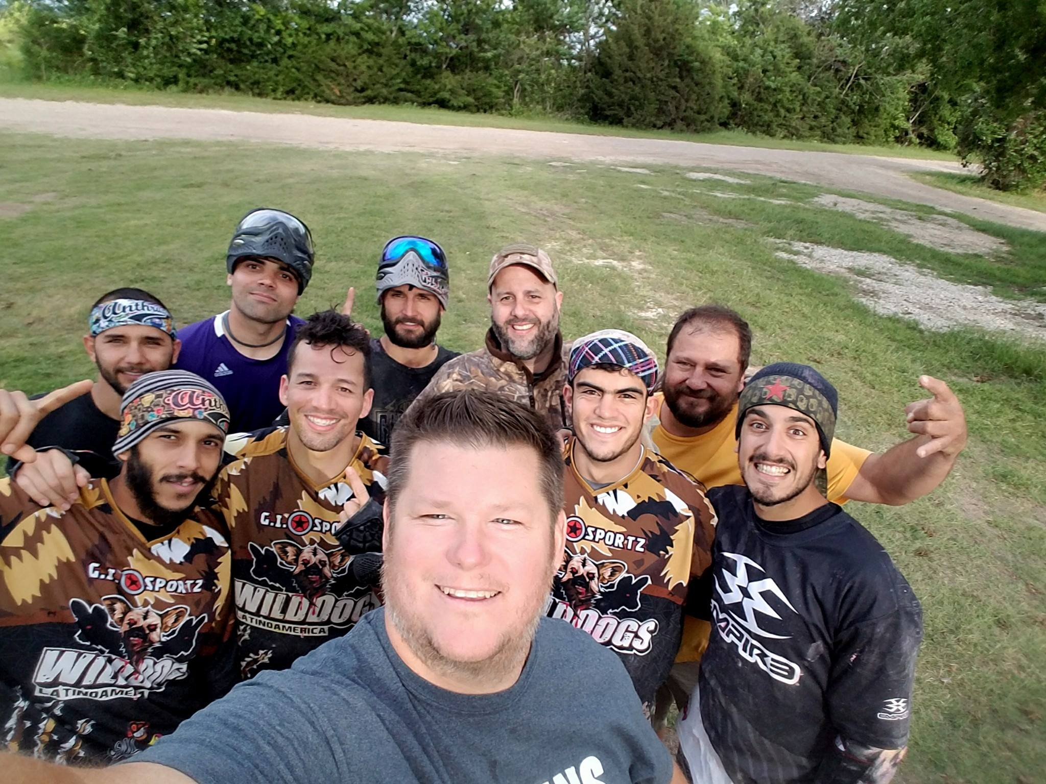 Cousins Paintball Dallas all smiles