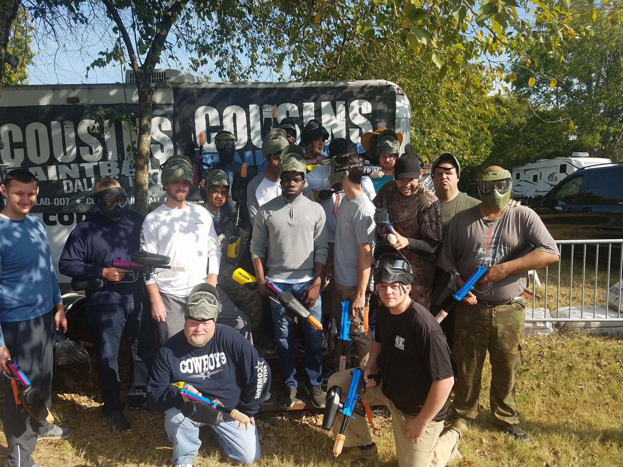Paintball Dallas Group Shot