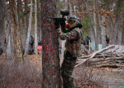 Paintball NJ Tree for Cover